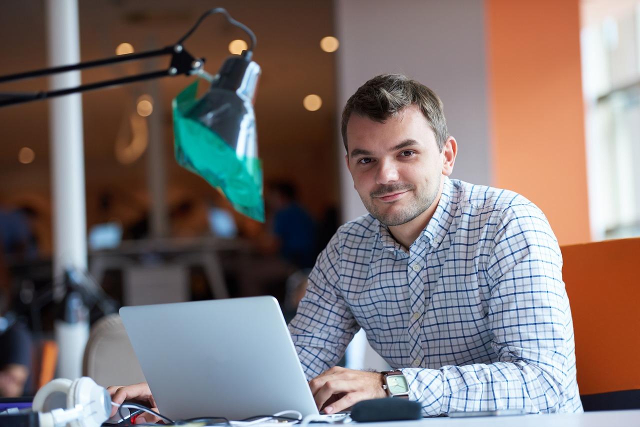 entrepreneur, computer, man